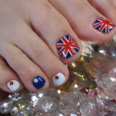 【ソフトジェルネイル FOOT】 Union Jack